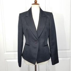 Calvin Klein Black Jacquard Tuxedo Blazer  size 6